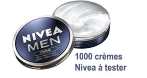1000 crèmes pour hommes Nivea Men à tester gratuitement