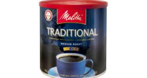 Café moulu Melitta à 1,49$