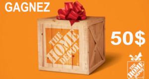 Carte cadeau Home Depot de 50$