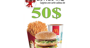 Carte-cadeau McDonald's de 50$