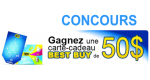 Une Carte cadeau Best Buy de 50$