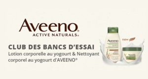 1000 ensembles nettoyants et lotions Aveeno Gratuits