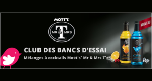 2 mélanges à cocktails Mr & Mrs T de Mott's Gratuits