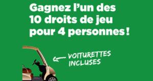 4 droits de jeux (18 trous) avec voiturettes
