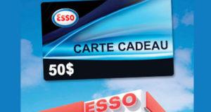 Carte cadeau Esso de 50$