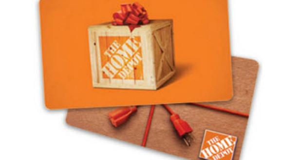 Carte-cadeau Home Dépôt d'une valeur de 100$