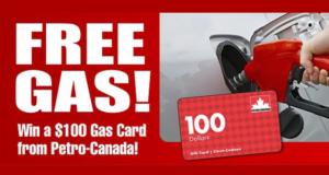 Carte cadeau Pétro-Canada de 100$