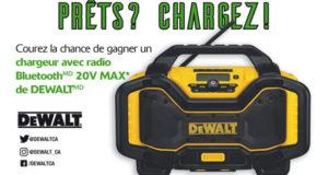 Chargeur avec radio Bluetooth 20V MAX de DEWALT