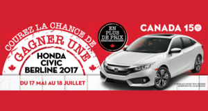 Gagnez une Honda Civic berline LX 2017