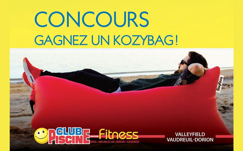 Un kozybag gagner chantillons gratuits concours for Circulaire club piscine super fitness