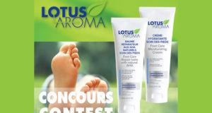 Un duo Soins des pieds Lotus Aroma