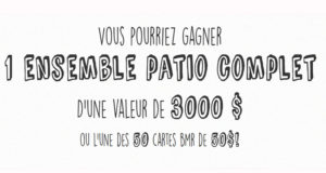 Un ensemble patio de 3000$