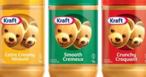 Beurre d'arachide Kraft 1kg à 2,49$
