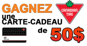 Carte cadeau Canadian Tire de 50$