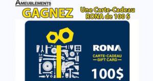 Carte-cadeau Rona de 100$