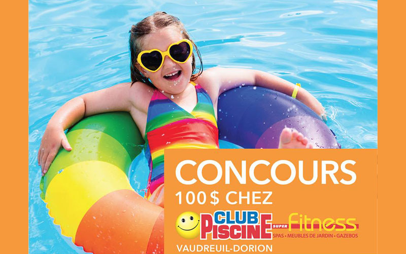 Carte cadeau de 100 chez club piscine chantillons for Club piscine rabais