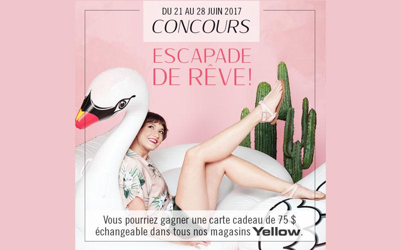 carte cadeau de 75 dans les magasins yellow chantillons gratuits concours coupons rabais. Black Bedroom Furniture Sets. Home Design Ideas