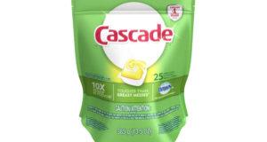 Détergent pour lave-vaisselle Cascade 25 capsules à 3,99$