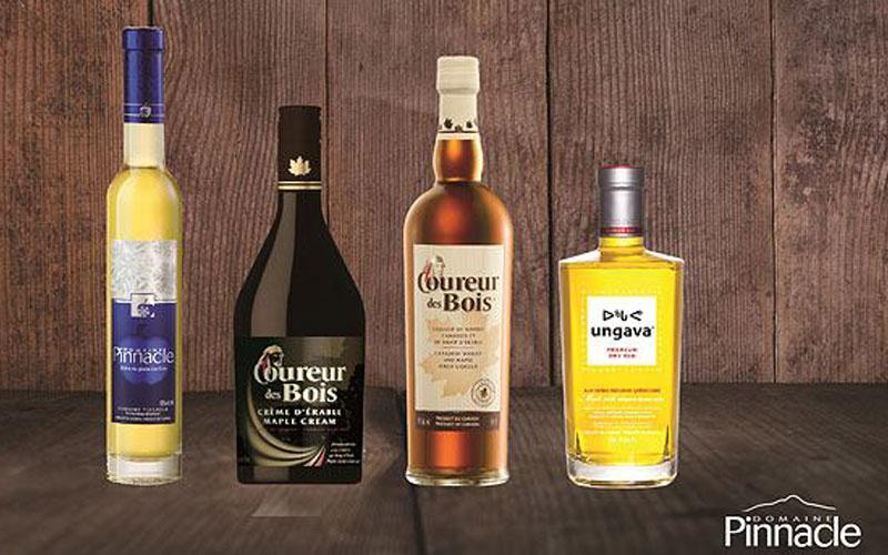 Panier Cadeau Produit Québec : Panier cadeau du domaine pinnacle alcools et produits