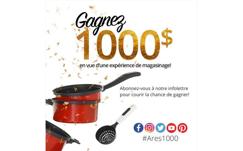 1000 en vue d 39 une exp rience de magasinage chantillons for Ares accessoires de cuisine