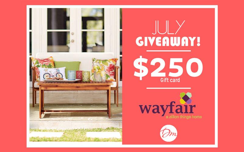 carte cadeau de 250 chez wayfair chantillons gratuits. Black Bedroom Furniture Sets. Home Design Ideas