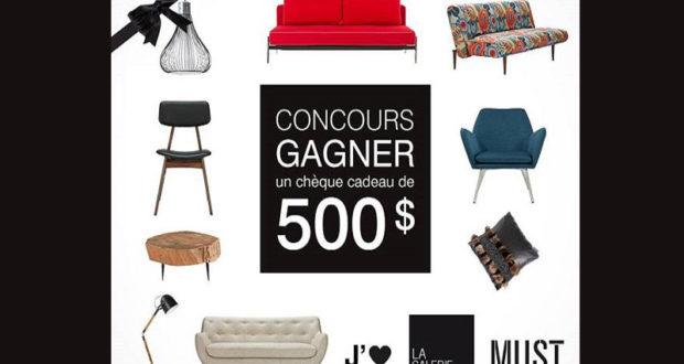 500 chez la galerie du meuble chantillons gratuits for Gallerie du meuble