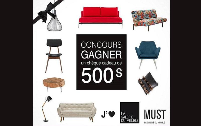 500 chez la galerie du meuble chantillons gratuits for Galerie du meuble