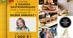2 soupers gastronomiques à l'Hôtel Suites Lac-Brome (1000$)