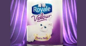 8 rouleaux de papier hygiénique Royale Velour à 2.25$