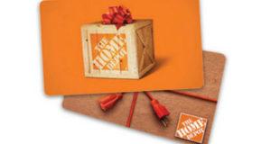 Carte-cadeau Home Depot de 5000$