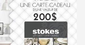 Carte-cadeau Stokes d'une valeur de 200 $