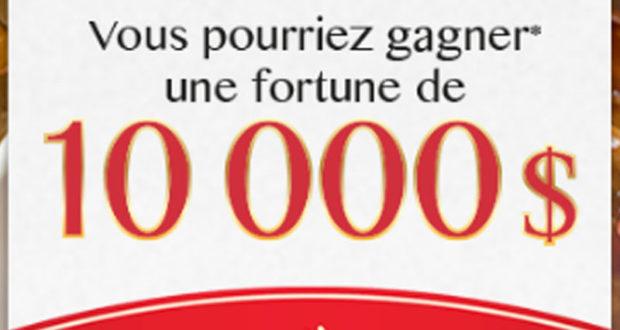 Gagnez 10 000$ en espèces