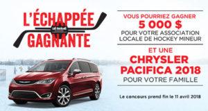 Gagnez une Chrysler Pacifica 2018 neuve (50 000 $)