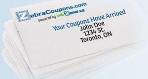Recevez gratuitement une enveloppe de 67 coupons ZebraCoupons