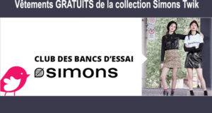 Un banc d'essai sur les vêtements Simons TWIK