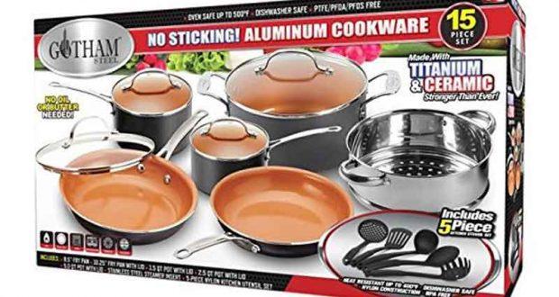 Gagnez une batterie de cuisine gotham steel 15 morceaux qu bec gratuit - Jeux de concour de cuisine ...
