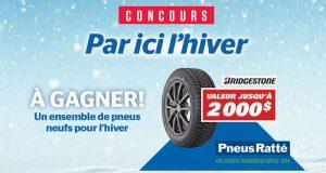Ensemble de 4 pneus d'hiver Bridgstone (2000$)