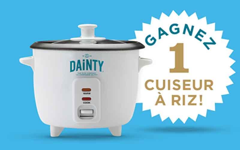 un cuiseur riz dainty chantillons gratuits concours coupons rabais deals au qu bec. Black Bedroom Furniture Sets. Home Design Ideas
