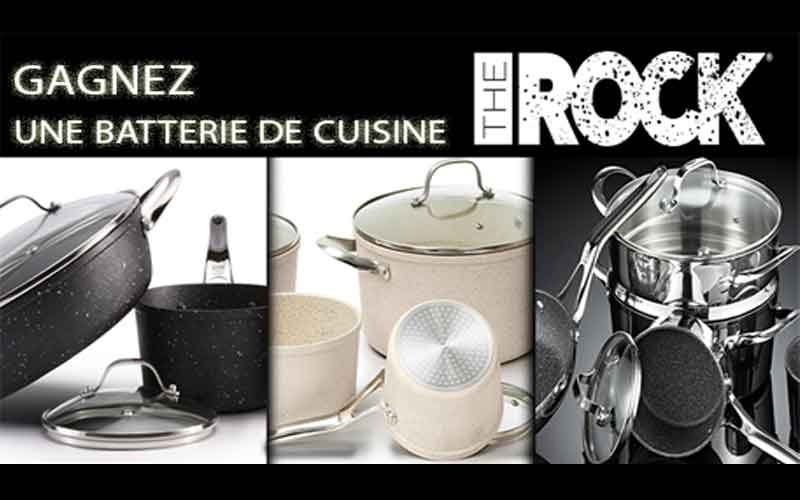 une batterie de cuisine the rock c ramique de 599 chantillons gratuits concours coupons. Black Bedroom Furniture Sets. Home Design Ideas