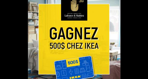 Une carte cadeau de 500 chez ikea chantillons gratuits concours coupons rabais deals au - Carte cadeau ikea france ...
