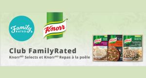 Essai gratuit des repas à la poele de Knorr