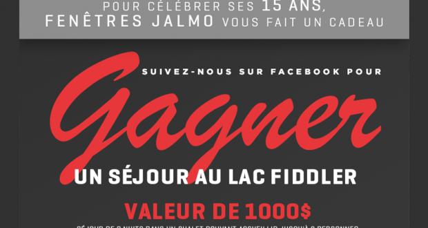 Gagnez un s jour au lac fiddler pour 8 personnes for Fenetre jalmo