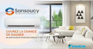 Une unité murale de climatisation Daikin de 12 000 BTU (2500$)