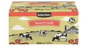 Beurre salé Selection 454 g à 2,97$