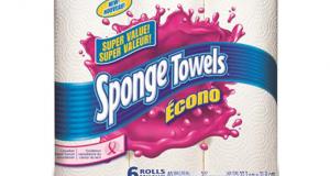 Emballage de 6 rouleaux d'essuie-tout Sponge Towels Econo à 2,99$
