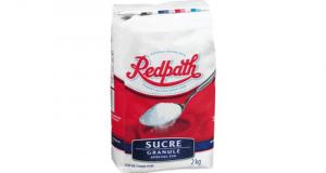 Surce blanc granulé Redpath à 1,22$