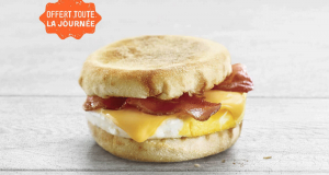 Un Chef-d'oeuf avec bacon à 2,50$ au Restaurants A&W