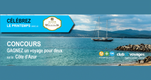 Voyage d'une semaine pour deux sur la côte d'Azur