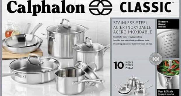 Gagnez une batterie de cuisine en acier inoxydable calphalon for Article de cuisine en ligne