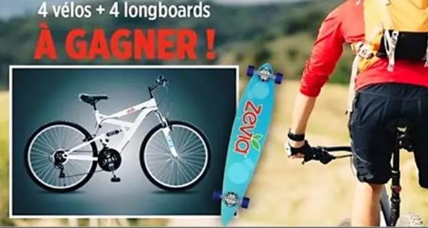 4 vélos de montage et 4 longboards